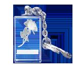 Žensko ime po želji sa 3D ružom poklon u kristalu