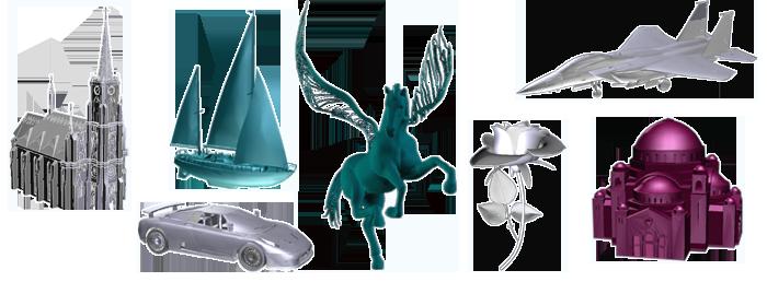 Velika galerija gotovih 3D modela spremnih za graviranje u Vaš kristal.